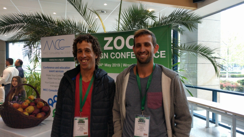 Hadar and Ehud enjoying the first day of the conference