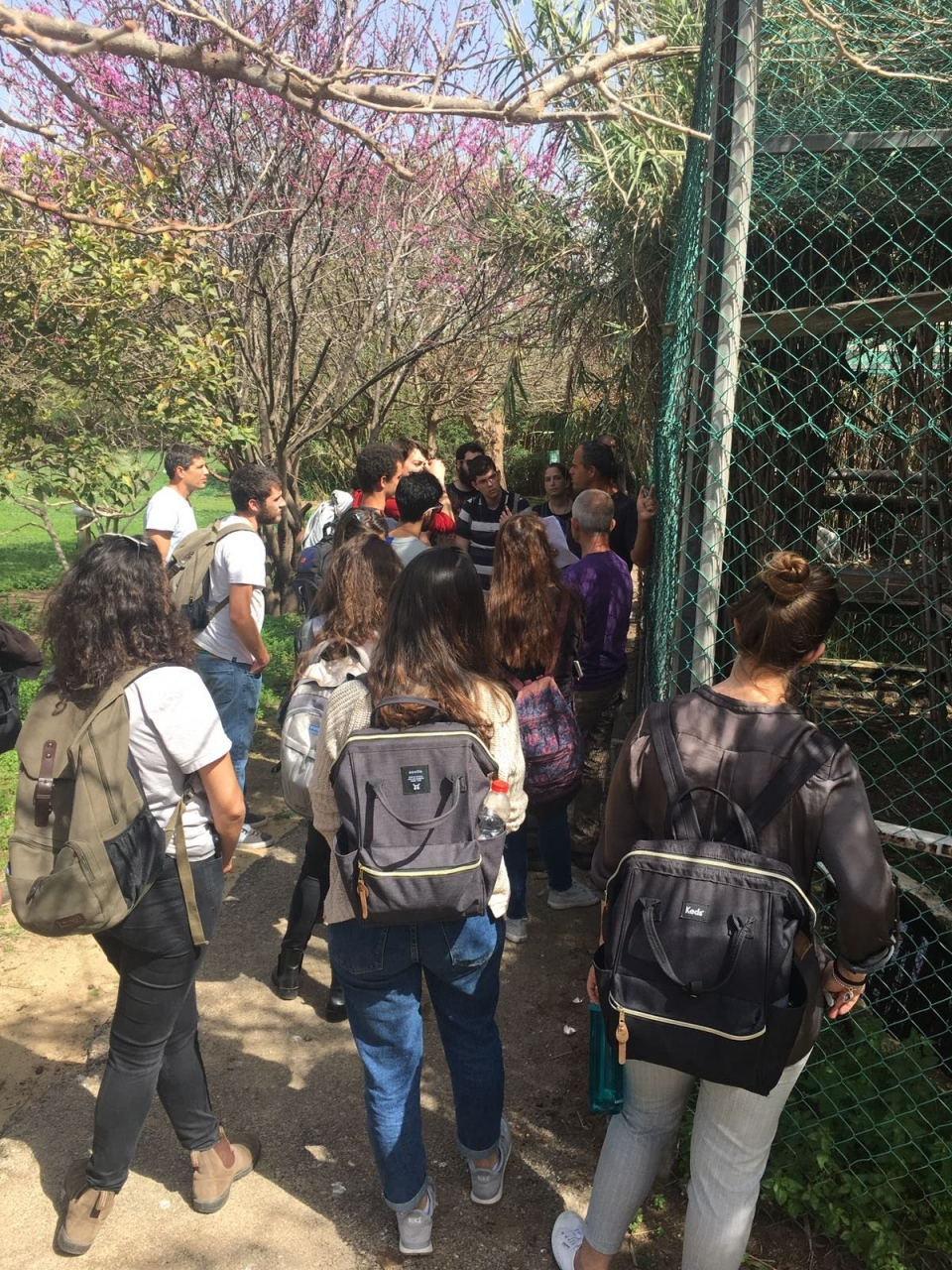 The students on a tour in the Zoological Garden, photo: Noga Kronfled-Schor